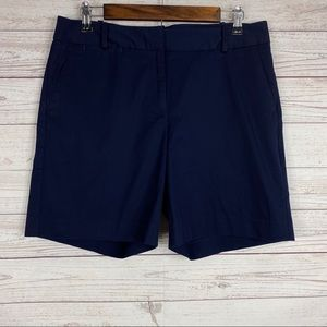 Talbots dark blue chino shorts